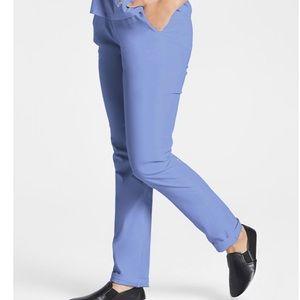 Jaanuu Ceil blue skinny scrub pants